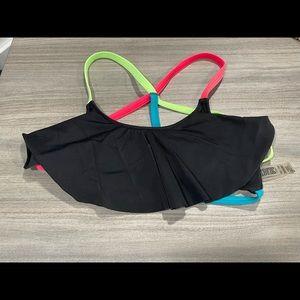 Victoria's Secret Pink bikini top XS Black Neon